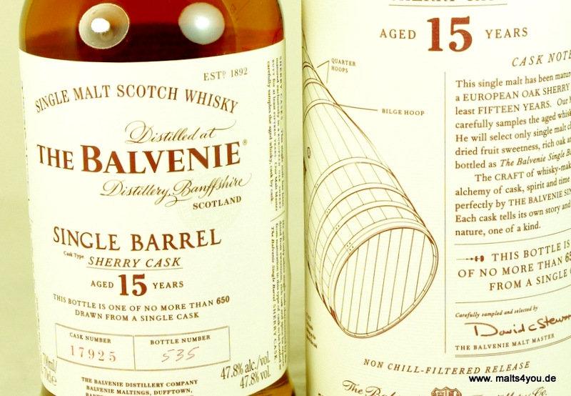 Balvenie single barrel sherry cask